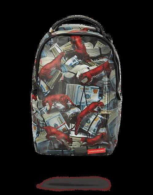 Sprayground Red Leopard Money Backpack