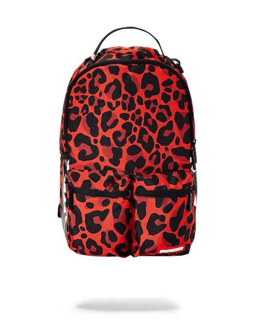 Sprayground Red Leopard Double Cargo Backpack