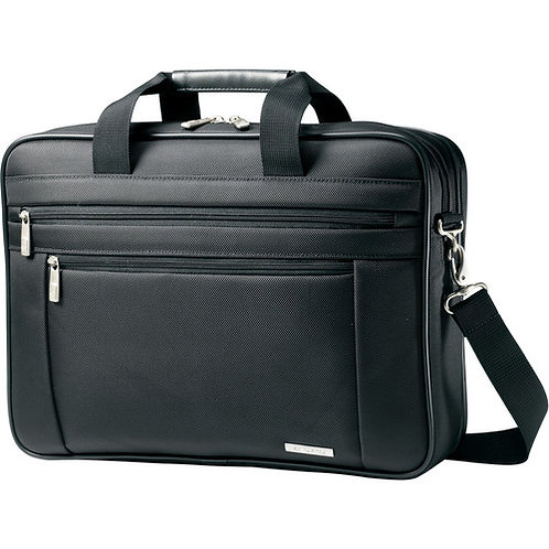 "Samsonite Classic Business Perfect Fit Two Gusset Laptop Bag - 15.6"""