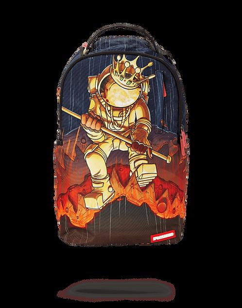 Sprayground Gold Astronaut Meteor Shark Backpack