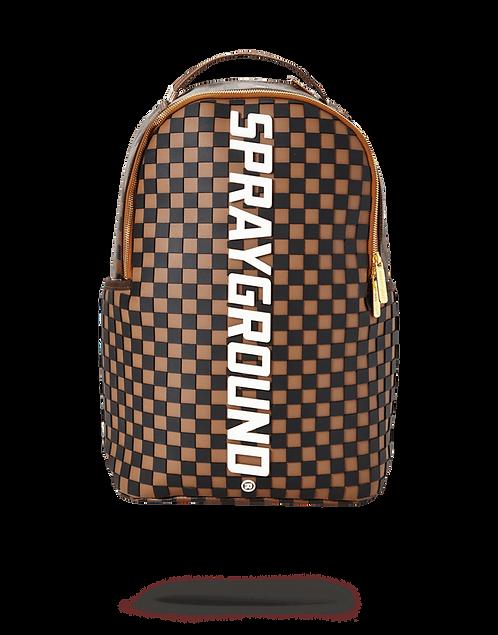 Sprayground 3M Molded Rubber Checkered Logo Backpack
