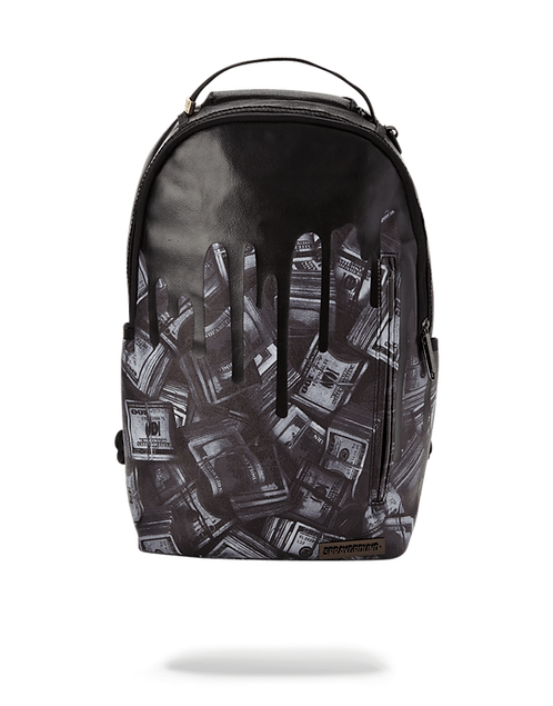Sprayground Blackout Money Drips Backpack