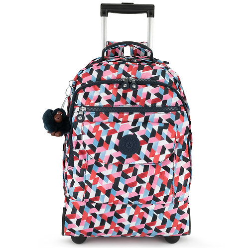 Kipling Sanaa Large Printed Rolling Backpack