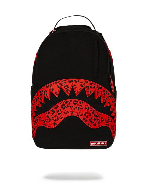 Sprayground Red Leopard Rubber Shark Backpack