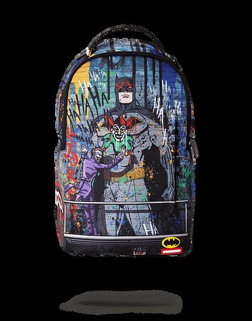 Sprayground Batman Mural by Joker Backpack