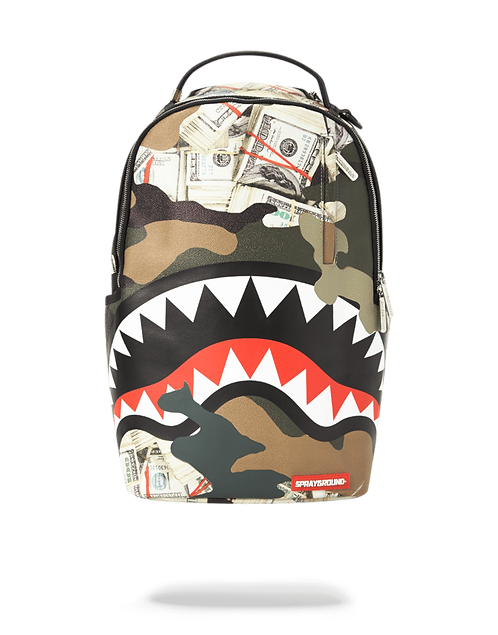 Sprayground Camo Money Shark Backpack