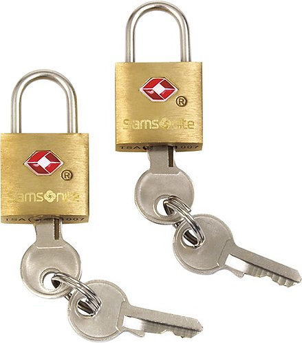 Samsonite 2-Pack Brass Key Lock