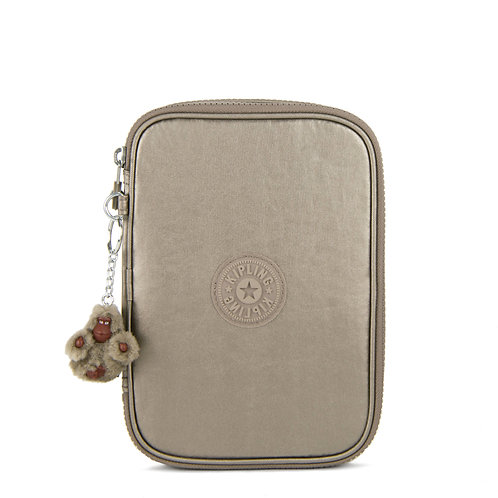 Kipling 100 Pens Metallic Case - Metallic Pewter
