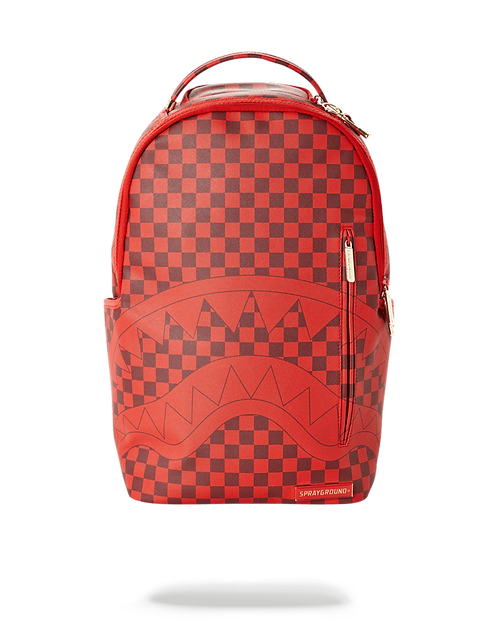 Sprayground Sharks in Paris (Red Checkered) Edition Backpack
