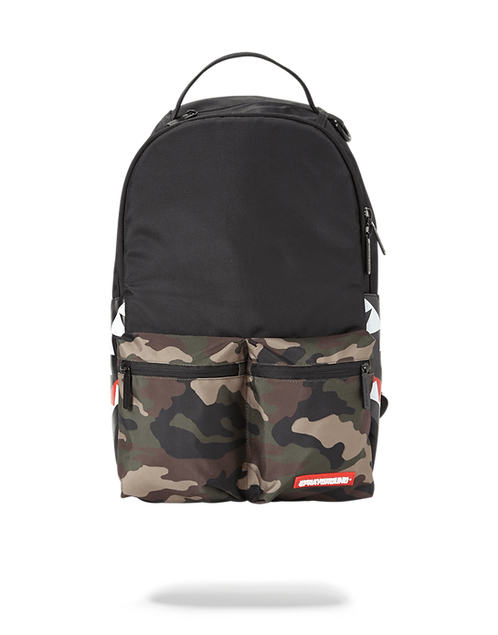 Sprayground Camo Side Shark Double Cargo Backpack