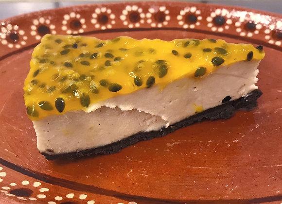 Vegan passionfruit cheesecake