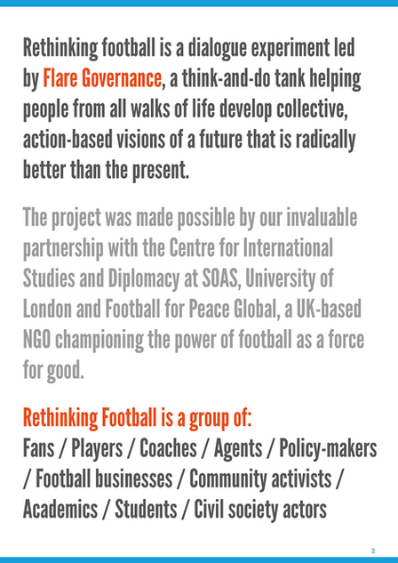 Rethinking Football proof of concept report introduction page