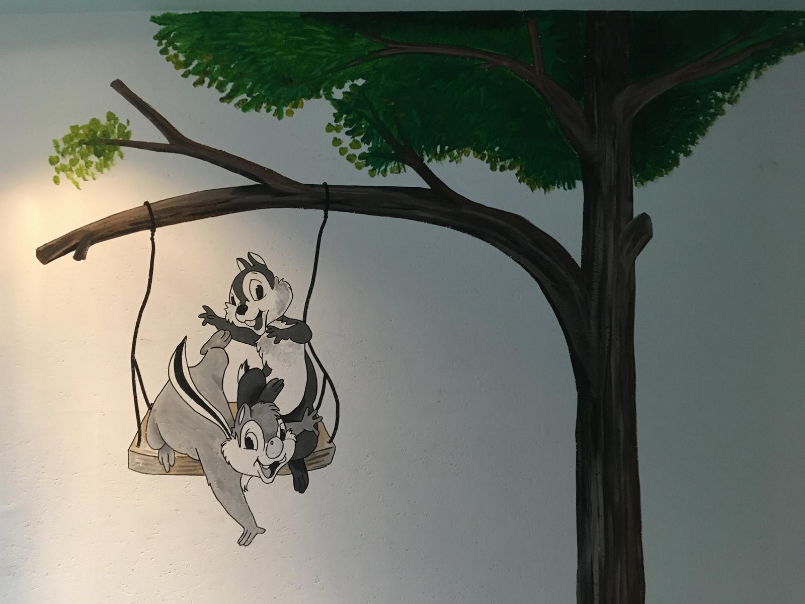 Knabbel Babbel Muurschildering