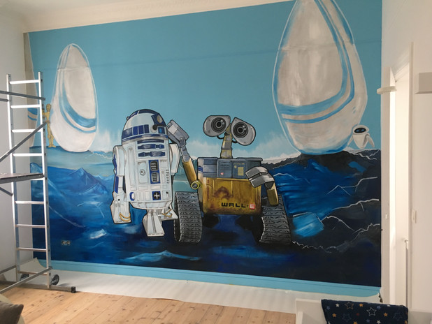 Wall-E en R2D2