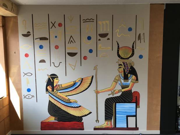 muurschildering egyptische tombe