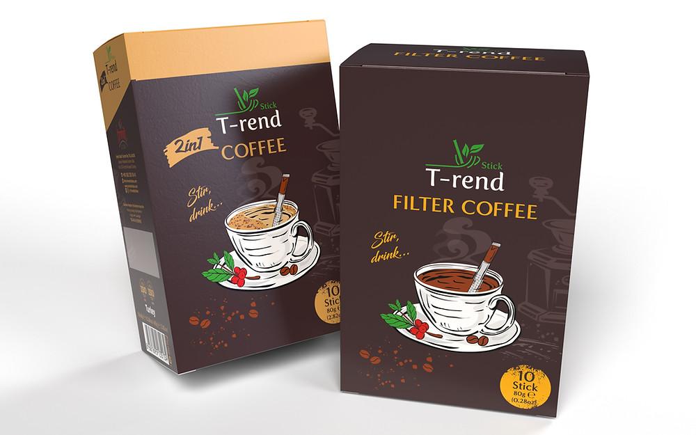 Trend Stick Kahve Ambalaj Tasarımı
