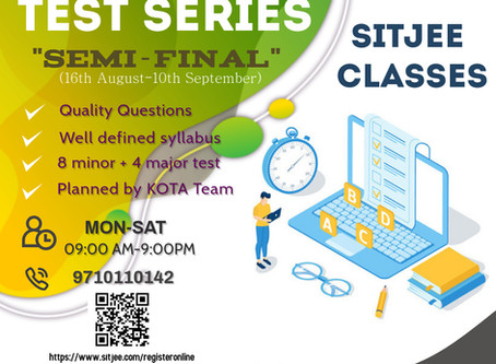 Give Final touch to your NEET preparation . Give final touch by Test series