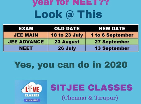 Are you planning to drop a year for NEET?? Now!! You can do it in 2020.