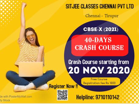 CBSE-X Crash Course