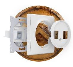 Купить дизайнерские выключатели и розетки в Сочи