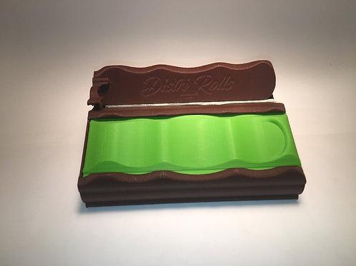 Distri Rolls Slim box, marron et vert clair