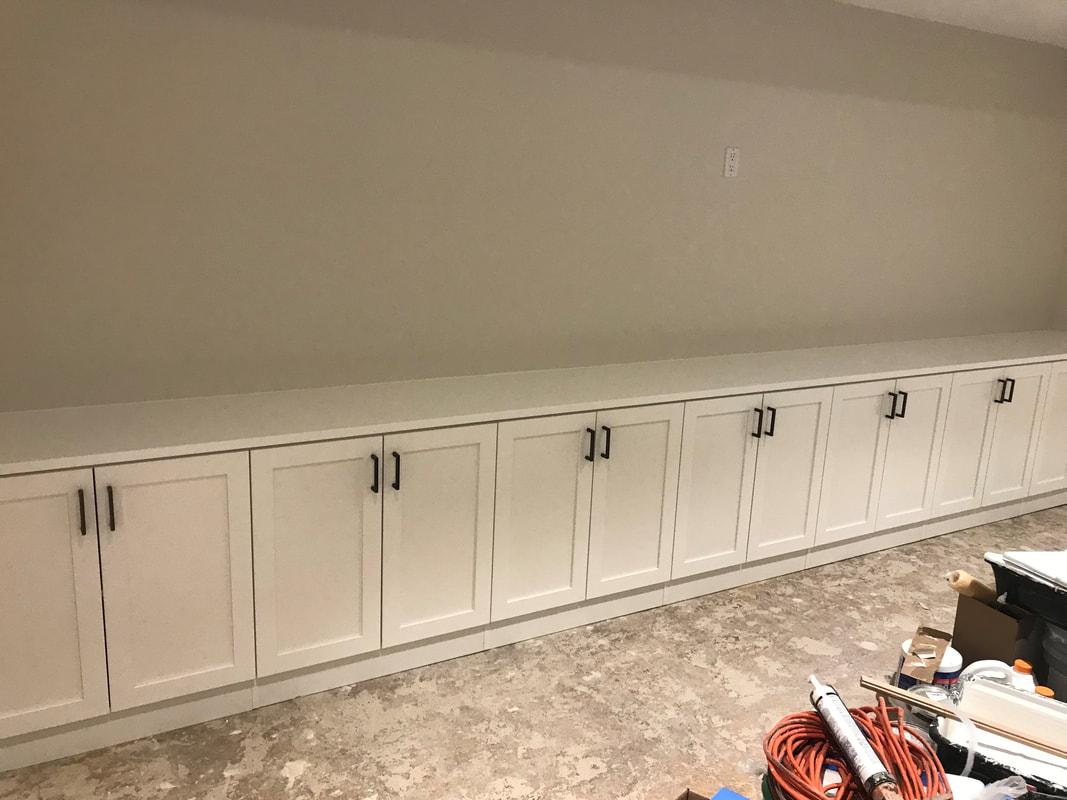 Basement Shaker Base Cabinets