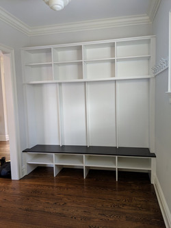 Mudroom Bench White and Chocolate Pe