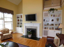 Family Room Real Wood Painted White