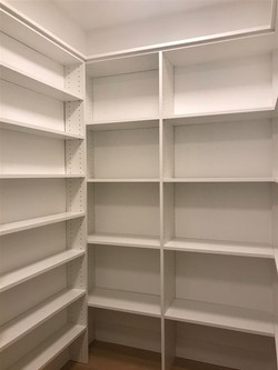 Pantry-White Melamine -Corner Shelves