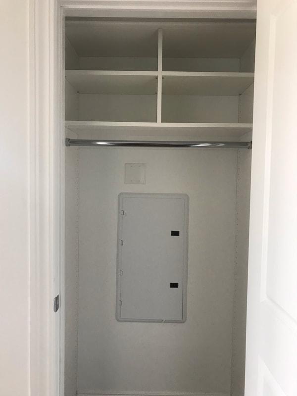 Coat Closet White Melamine