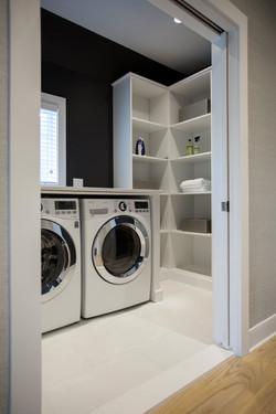 White Melamine Laundry Room