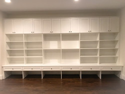 Basement Rec Room-White Melamine with Th