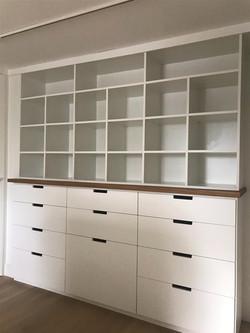 His Master Closet -White Melamine -Slab