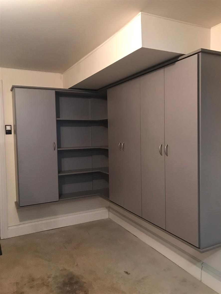 Garage -Brushed Aluminum -Slab Doors
