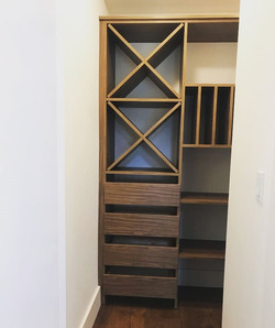 Wine Storage and Baking Sheets- Pantry