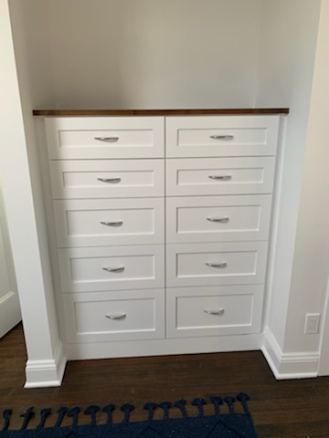 Bedroom Dressers - Real Wood Painted