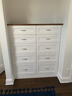 Bedroom Dressers - Real Wood Painted