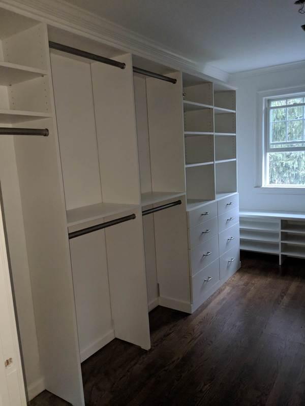 White Slab - Master Closet