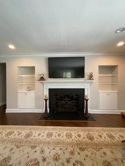 Living Room Niche Built In