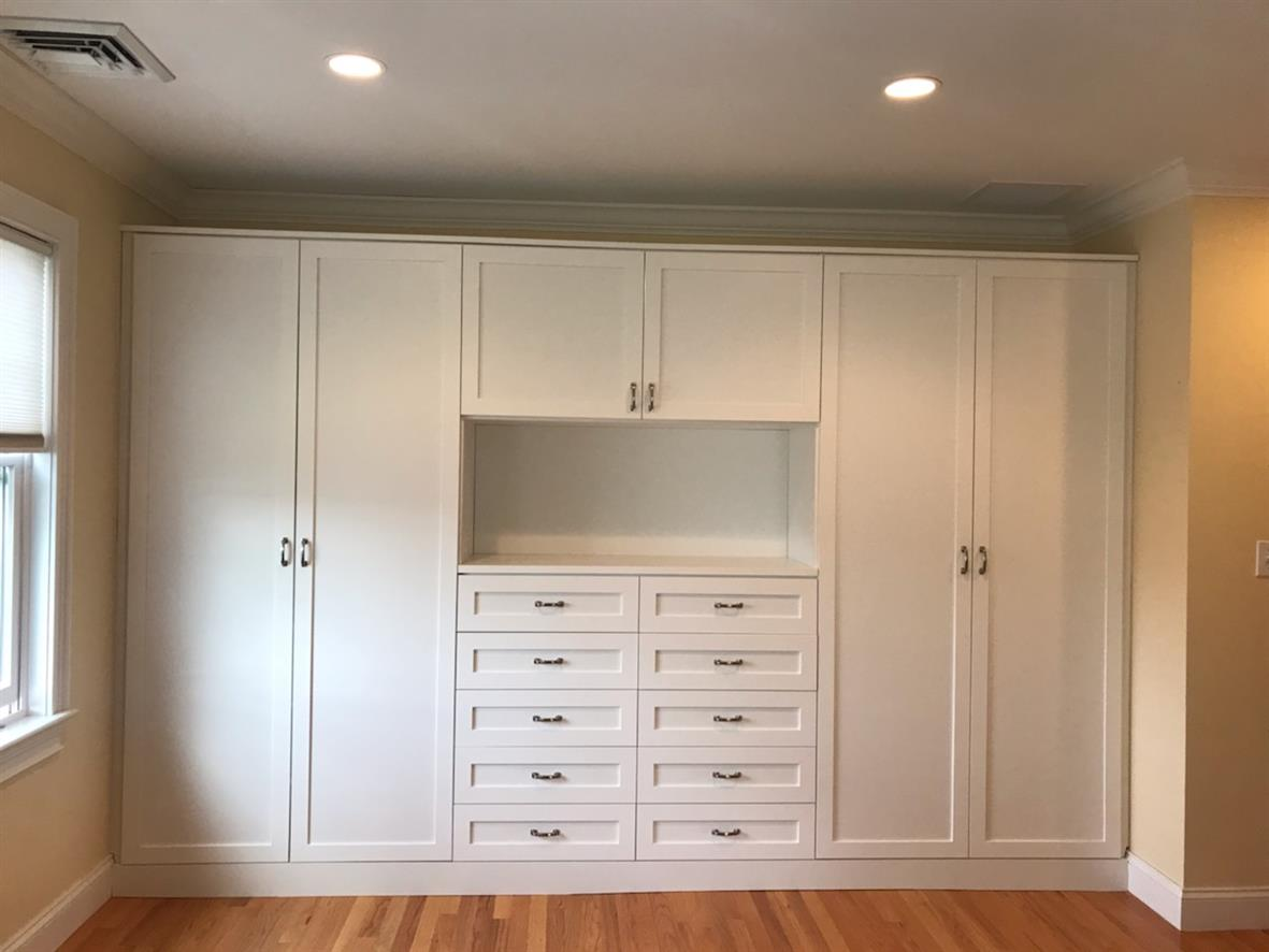 Office Storage Cabinets-White- Shaker