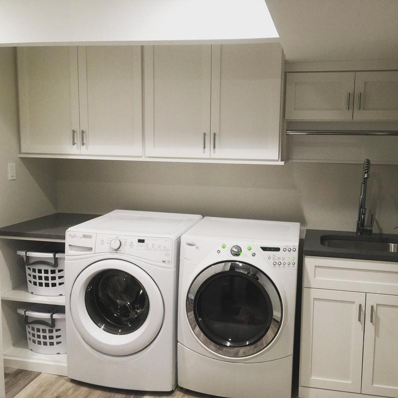Laundry Room - White Melamine - Shaker