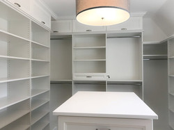 Master Closet - White Melamine with