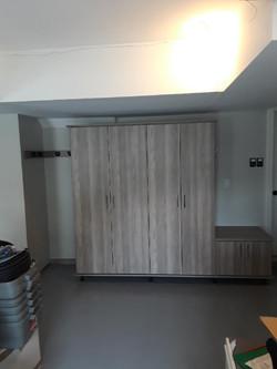 Garage Storage Cabinets and Bench Seat
