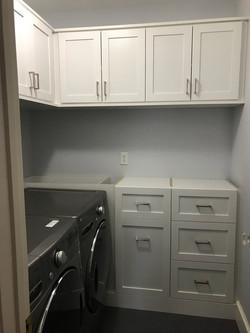 White Melamine 5 Piece Shaker Laundry Ro