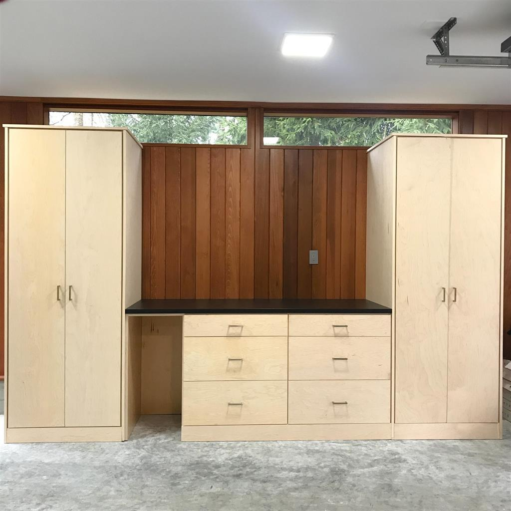Garage-Slab-Paintgrade Wood
