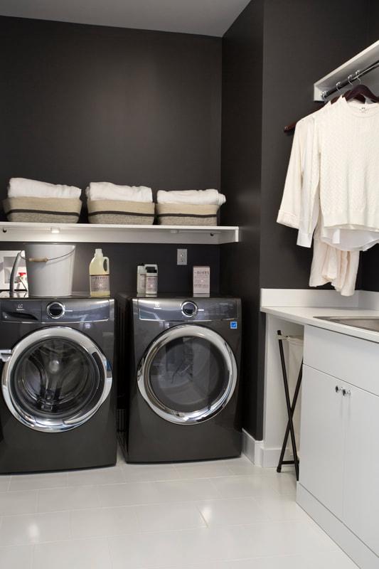Slab Laundry Room - White Melamine