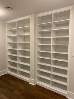 Built In Book Shelves - White Melamine