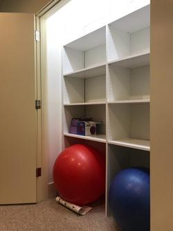 Gym Closet - White Melamine