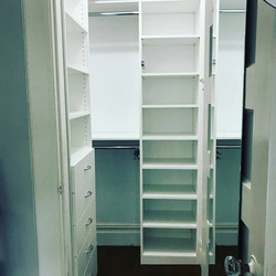 White Melamine - Daughter's Closet