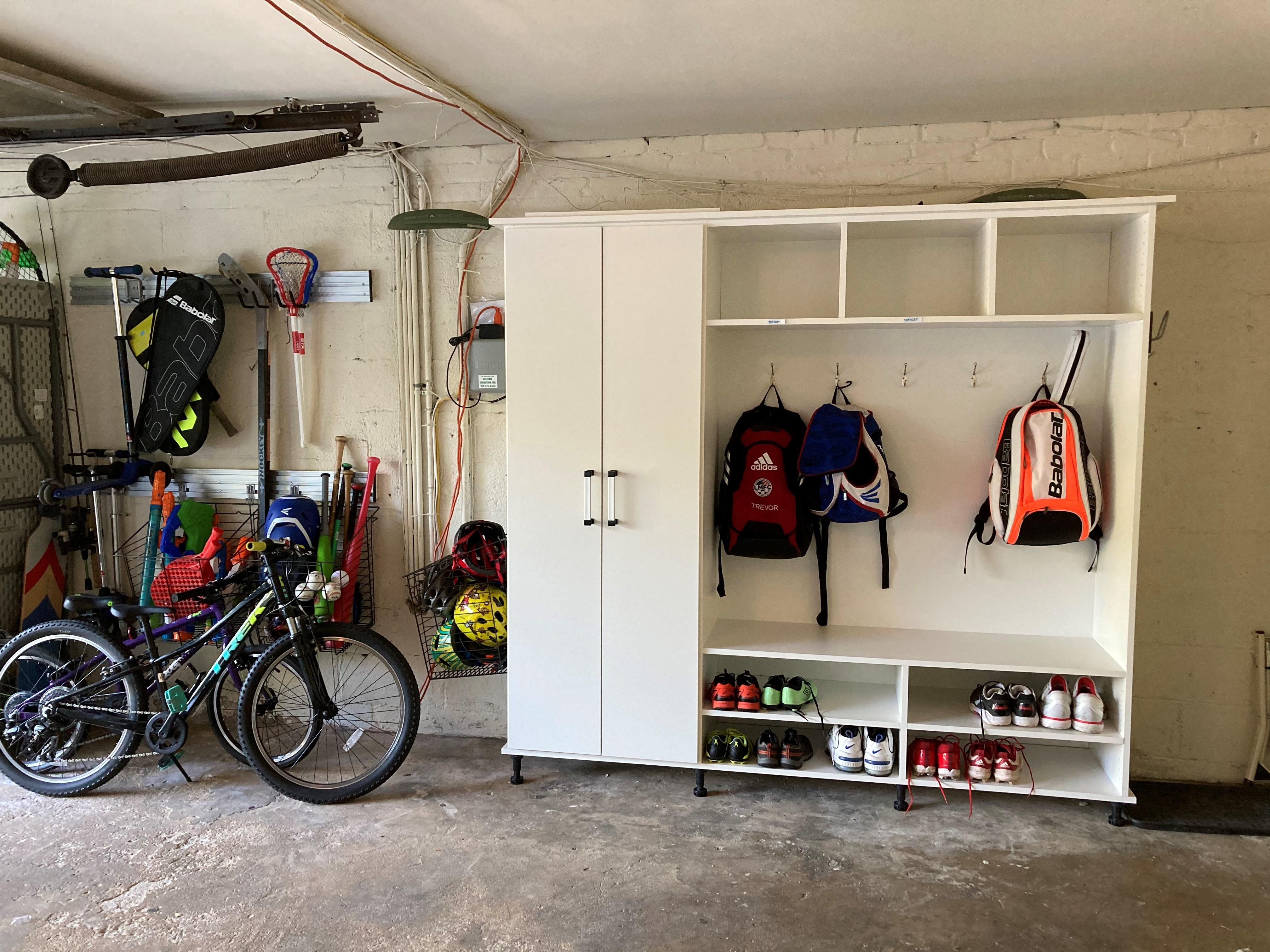 Garage-Bench Unit -White